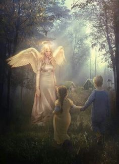 A guardian angel is an angel that is assigned to protect and guide a particular person, group, kingdom, or country. Belief in guardian angels can be traced thro Guardian Angel Images, Your Guardian Angel, Dark Angels, Celestial, Angel Artwork, Angel Drawing, I Believe In Angels, Ange Demon, Blessed Mother Mary