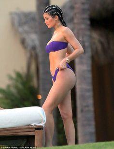 Kylie Jenner wears revealing purple bikini in Mexico #dailymail