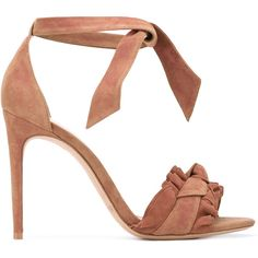 Alexandre Birman Lupita sandals ($571) ❤ liked on Polyvore featuring shoes, sandals, alexandre birman shoes, genuine leather shoes, leather sandals, beige sandals and nude shoes