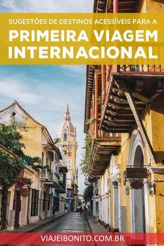 Sugestões de destinos para a primeira viagem internacional #viagem #viajar #ferias #colombia #cartagena