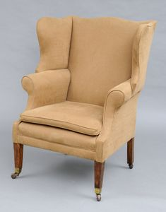 a late 19th c english antique george iii style mahogany wing chair the curved crest