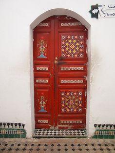 Painted Door, Fes, Morocco