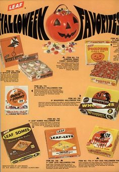 Good ol' 70s Halloween candy!