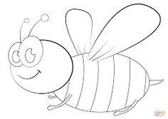 Znalezione obrazy dla zapytania pszczoła kolorowanka