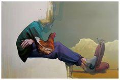 "Sainer ""BusStop"" acrylics on canvas 80x120 cm 2013 Etam Cru"