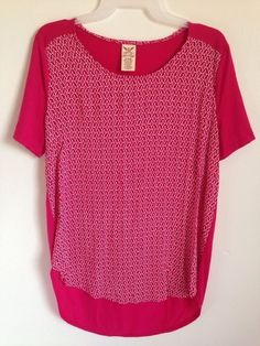 c679bf04 Details about Women's FADED GLORY Tunic Fuchsia Rose Pink Tee Shirt Top  Blouse Size Small NWT