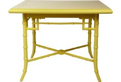 Yellow Faux-Bamboo Coffee Table - One Kings Lane - Vintage & Market Finds - Furniture