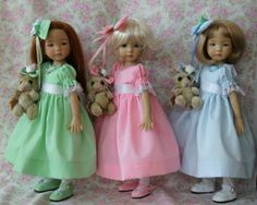 From GloriasGarden on ebay, 3 separate auctions for these dresses with slips, hairbows and bunnies. Ends 3/28/14.