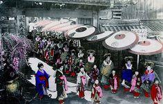 Shimabara Kyoto. oiran 1909