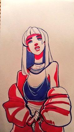 New Hair Women Illustration Drawings Ideas Cartoon Kunst, Cartoon Art, Drawing Cartoons, Cartoon Faces, Art Drawings Sketches, Cute Drawings, Drawing Art, Drawing Tips, Pretty Drawings Of Girls