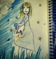 Hier kommt die #Skizze für #Sterntaler mit #Michelle #Baumgartner - freue mich schon drauf :)  #märchen #Geschichte #cosplay #fotografie #shooting #wunderlandillusion