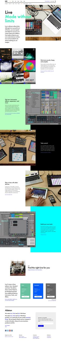 Ableton Website Relaunch — A Color Bright