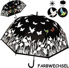 alles-meine.de GmbH - 18.99 - 4.0 von 5 Sternen - Regenschirm Fashion, Diy Kid Jewelry, Umbrellas, Fashion Accessories, Rain, Colors, Moda Femenina, Adult Children, Flowers