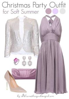 Full Set Christmas Party Outfit For Soft Summer