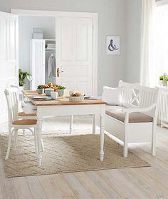 Vaření s chutí | Kuchyňské přístroje a kuchyňské nádobí | TCHIBO Dining Bench, Provence, Furniture, Design, Home Decor, Vintage, Homemade Home Decor, Table Bench, Home Furnishings