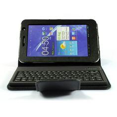 Wireless Bluetooth Keyboard Tablet Case For Samsung Galaxy Tab 7 P6210/P6200