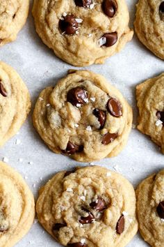 The Easiest Chocolate Chip Cookies - Katiebird Bakes Cookie Dough Recipes, Peanut Butter Cookie Recipe, Brownie Recipes, Dessert Recipes, Dessert Ideas, Salad Recipes, Cookies From Scratch, Easy Baking Recipes, Baking Ideas
