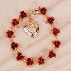 Name Bracelet, Heart Bracelet, Bracelets, Sunflower Jewels, Rose Necklace, Affordable Jewelry, Personalized Jewelry, Stylish, Accessories