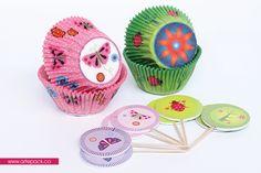 """Kit de capacillos y banderines """"Bosque encantado"""" Hornea tus momentos! www.artepack.co"""