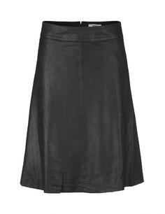 Black Soft leather Stelly skirt