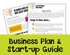 Simple Business Plan Template For Convenience Store Modelling - Etsy business plan template