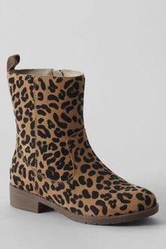 Girls' Marley Short Leopard Boots from Lands' End