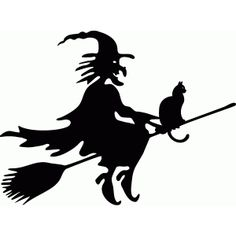 Silhouette Design Store: witch with kitty