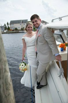 Nautical Wedding, Forked River, NJ.  Latitudes on the River. Photos: Inspire Me Imagery.   #coccamo, gunwale, wedding pictures