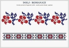 Semne Cusute: romanian traditional motifs - OLTENIA - Dolj & Rom... Cross Stitch Heart, Beaded Cross Stitch, Cross Stitch Borders, Cross Stitching, Folk Embroidery, Cross Stitch Embroidery, Embroidery Patterns, Loom Beading, Beading Patterns
