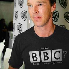 BBC Because Benedict Cumberbatch