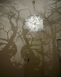 A Chandelier That Casts Tree Shadows