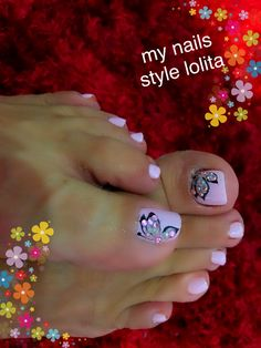 50 + cute toenails art for the summer 33 Pedicure Nail Designs, Fingernail Designs, Pedicure Nail Art, Toe Nail Designs, Toe Nail Color, Toe Nail Art, Nail Colors, Nail Nail, Pretty Toe Nails