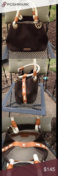 Michael Kors canvas and leather trim stunning tote Used few times MICHAEL Michael Kors Bags Totes