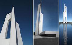 """""""Eólica"""", una torre pensada para la integración de energías renovables en entornos urbanos."""