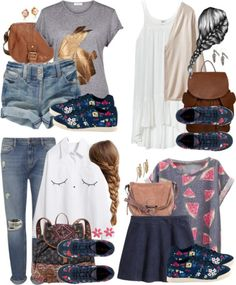 Luna Lovegood Inspired Outfits w/ Requested Shoes by hpstyle featuring short sleeve shirts