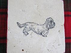 Custom Handmade Dandie Dinmont Terrier Natural Stone