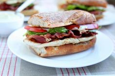 Recipe for BLT chicken cutlet sandwiches with avocado mayonnaise