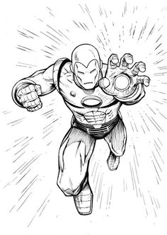 Iron Man Coloring Pages: You can introduce your child to the world of colors with the help of his favorite animated character. Watch your #toddlers as he enjoys brushing up his motor skills coloring his dashing superhero.Here are 20 amazing iron man pictures to color