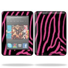 Mightyskins are removable vinyl skins for protecting and customizing your portable devices. They feature ultra high resolution designs, the perfect way to add some style.  Protective Skin Decal Cover for Amazon Kindle Fire HD 7″ inch Tablet Sticker Skins Zebra Pink