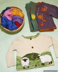 repair holes in sweaters by needle felting wool -