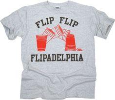 Its Always Sunny In Philadelphia Flip Cup Flipadelphia Heather Gray T-shirt Tee L