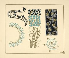 Image ID: 1553694 - [Abstract design based on tiny leaves on stems.] ([1900?]) From NYPL.org