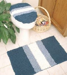 Bath mat and seat cover, free pattern