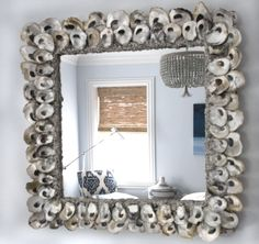 Fabulous Oyster shell mirror. #mirrors