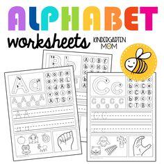 Handwriting Practice Free, Kindergarten Handwriting, Kindergarten Writing, Writing Curriculum, Kindergarten Readiness, Handwriting Worksheets, Homeschool Kindergarten, Free Printable Alphabet Worksheets, Free Kindergarten Worksheets