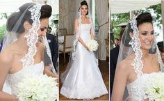 Svatební šaty a závoj Pavly Hrbkové