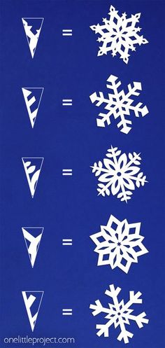 How to Make Paper Snowflakes These paper snowflakes are SO FUN and really simple to make! Such a classic craft tutorial that teaches you how to make perfect snowflakes every time! Winter Activities For Kids, Winter Crafts For Kids, Winter Kids, Kids Crafts, Paper Snowflake Template, Snowflake Craft, Paper Snowflakes Easy, Paper Snowflake Patterns, Easy Projects