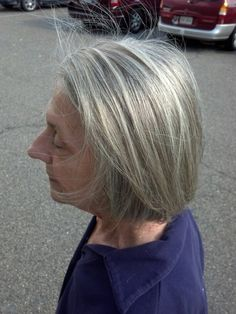 Gray hair with highlights and lowlights highlights lowlights nothing wrong with gray hair we added highlights and lowlights to break up the gray pmusecretfo Choice Image