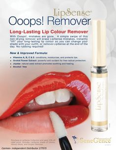 Shop Women's SeneGence size OS Lipstick at a discounted price at Poshmark. Description: Remover used with long lasting LipSense lipstick. Lipsense Lip Colors, Lipstick Colors, How To Remove Lipsense, Senegence Makeup, Senegence Products, Long Lasting Lip Color, Shops, Hair And Beauty, Deutsch