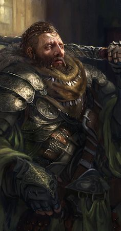 Random Fantasy/RPG artwork I find interesting,(*NOT MINE) from Tolkien to D&D.hope you enjoy it! Dark Fantasy, Fantasy Dwarf, Fantasy Male, Fantasy Armor, Medieval Fantasy, Fantasy Portraits, Character Portraits, Character Art, Male Portraits